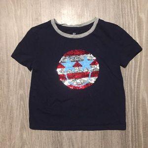 Gap Girls Size XS Sequin Flip Shirt